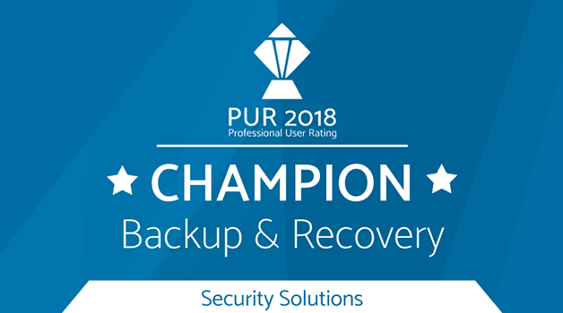 PUR Award 2018 - Champion Backup & Recovery